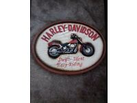 Gorgeous 3d harley Davidson wooden oval picture must be seen to appreciate