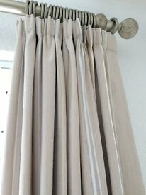Laura Ashley Wooden Curtain Pole in Antique Pewter - As new - first to see will buy