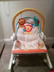 The Fisher-Price 3-in-1 chair, swing and rocker **