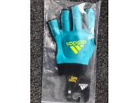 Adidas OD Hockey Gloves - Aqua/Yellow - New Unopened Condition