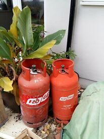 2x empty gas cyclinders for sale. Both red flo gas 19kg. Previously used for a static caravan.