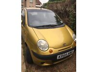 Daewoo Matiz SE plus 2004- A lovely little city car. Very economical and eye catching.