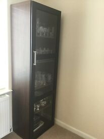 Ikea glass- fronted display cabinet
