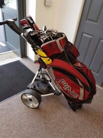 Ping G15 Golf Clubs + Driver + Electric Trolly