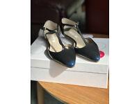 Boden T-bar flat navy shoes - size 3 (36)