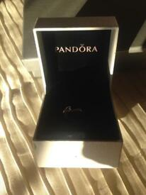 New pandora ring with dangle charm hearts