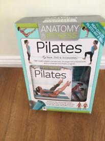Pilates Book, DVD, mat and ball