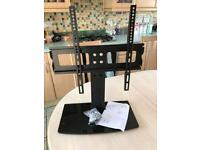 """Universal tv stand and wall bracket in 1 fit to 22"""" to 50 inch plasma lcd or led"""