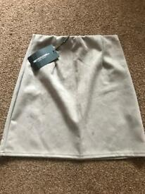 Grey suede size 10 pretty little thing skirt
