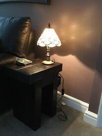 Table lamp mosaic pattern