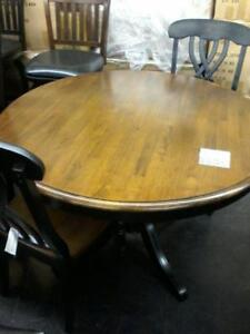 5PC Solid Wood Round Floor Model Table Regular 1599 Layaway Plans Available