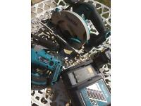 Makita circular saw 18v brushless +jigsow +one 4ah battery