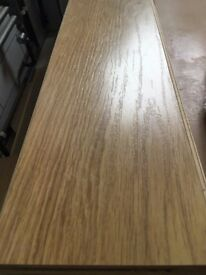 Oak laminate flooring approx 22m² - ready for collection