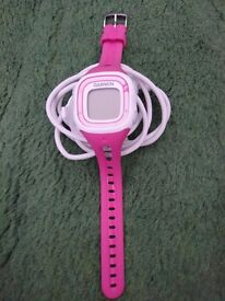 Pink garmin forerunner 10 with charger. Great watch (needs charging)