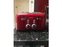 AMBIANO 4 SLICE RED TOASTER