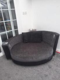 Round corner sofa coach