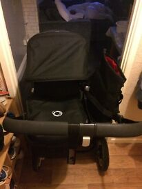 Bugaboo donkey in black only used three times carry a car car seat adapter pram seat rain cover