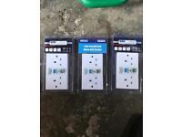 RCD double sockets x3 £20