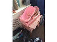 Baby Annabelle pram, change station, cradle , bath and car seat and extras