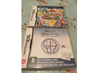 2 x DS games - Pokemon and braintraining