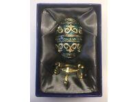 Beautiful Faberge Italian Egg Trinket Box Collectors Item