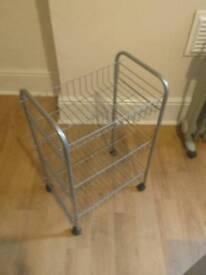Storage trolley on wheels