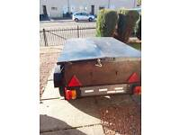 Trailer 4ft.7ins.x3ft.X18ins.deep.with metal lockable lid