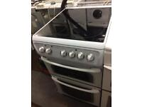 White Hotpoint 50cm ceramic hub electric cooker grill & fan assisted ovens with guarantee