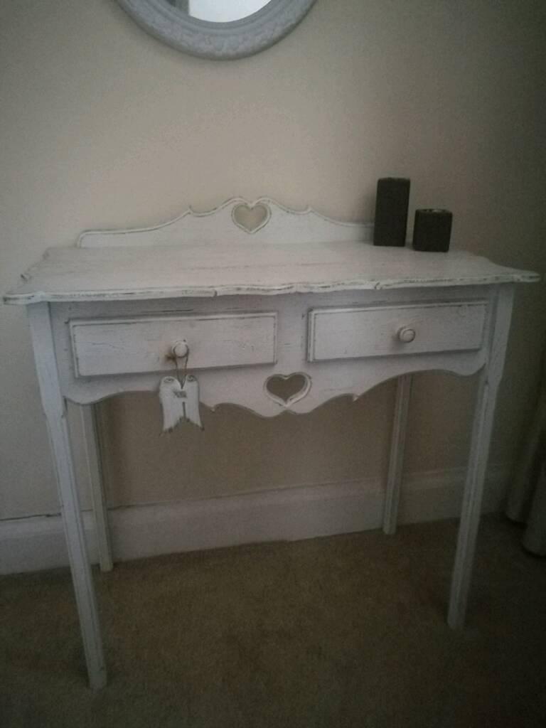 Beautiful wood shabby chic dressing table.