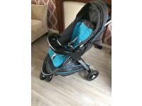 Graco 3 wheel sport buggy blue and grey