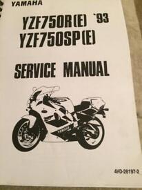 Yamaha yzf750 manual