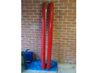 Punto Grande Sporting Pair Side Skirts/Mouldings Genuine OEM Fiat. 176 Exotica Red. P/N 50901348