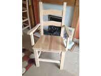 Beech chairs with solid oak seat pads (Brand New) x 4