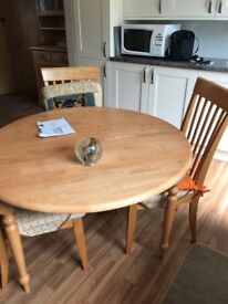 Drop-leaf Farm-Style Dining Room Table