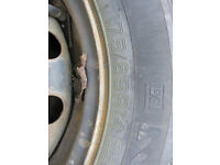 Set of Winter Tyres on rims - 175/65 R14 for Peugeot 206 or similar (4 x 108 hole pattern)