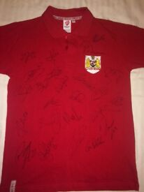 *SIGNED* Bristol City FC polo shirt