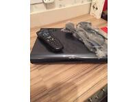 Sky hd box 2 tb , dark grey patent with remote and Hdmi cable ,great condition