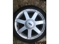 "16"" FORD FIESTA ZETEC S MK 5 Titanium SPOKE 4 STUD ALLOY WHEEL With Tyre 5mm Td1"