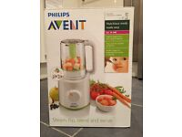 Phillips Avent Steamer Blender with storage Baby Cubes