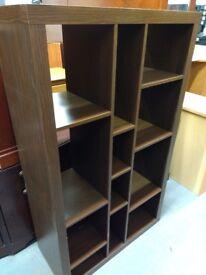 Dark wood effect book case