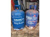 2 empty 15kg gas bottles fo sale