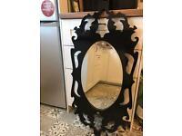 Gothic style large ornate mirror