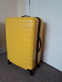 Large Canary Yellow Suitcase