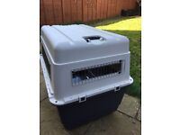 Large travel kennel IATA approved, large with wheels, used just once