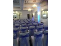 Chair covers £1 hire with bow free set up all Ocassions