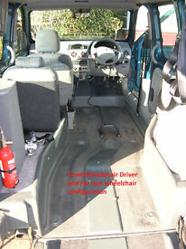 Renault Kangoo 'Expression' Drive from wheelchair and wheelchair rear passenger conversion WAV