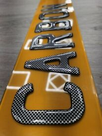 Number Plates - 3D / 4D / Gel - SAMEDAY COLLECTION