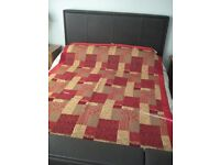 Laura Ashley `Rochester Red` Patchwork Throw (double bed size)