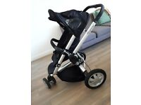 Quinny buzz pushchair with wet cover . Carry case . Pump and adjusters to allow for baby seat