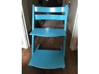 Blue Stokke Tripp Trapp chair in kidbrooke